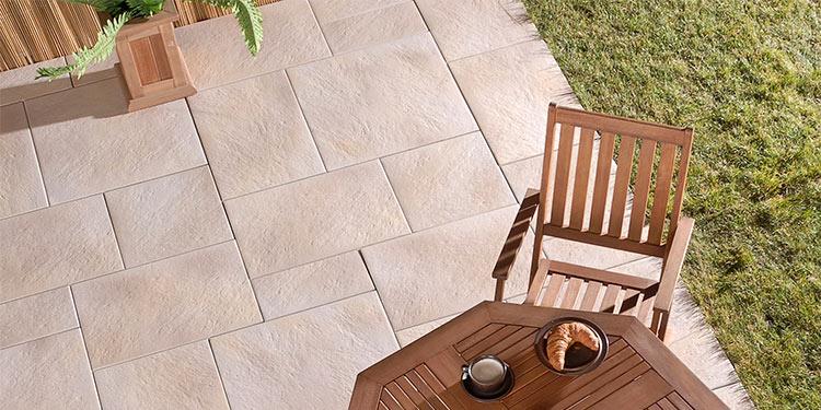 premiumbeschichtete Terrassenplatten