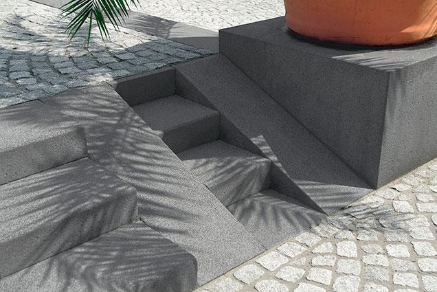 Blockstufen für barrierefreies Bauen