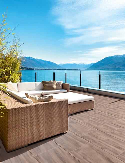 landliche terrassengestaltung. Black Bedroom Furniture Sets. Home Design Ideas